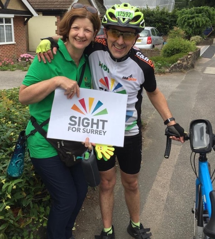 Jane Vincent and Chris Ride London 100
